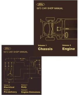1973 Ford Galaxie Mustang T-Bird Shop Service Repair Manual Book Engine
