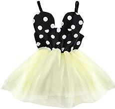 CM-Kid Little Girls Slip Strap Cami Dress Mouse Ears Sweety Dots Cotton Sundress