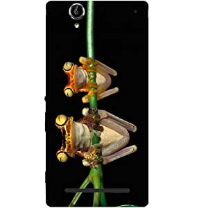 Casotec Frog Couple Design Hard Back Case Cover for Sony Xperia T2 Ultra