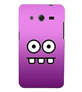 Printvisa Lite Cartoon Face Backcover For Samsung Core 2 (Brown)