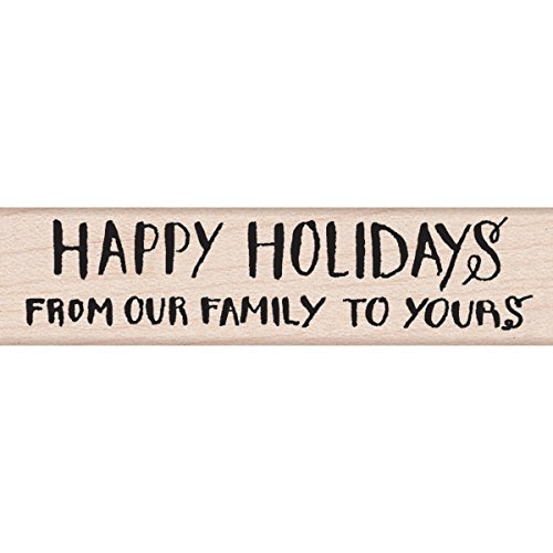 Hero Arts Mounted Rubber Stamps, From Our Family to Yours, .5 by 3-Inch