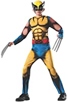 Rubies Marvel Universe Classic Collection Deluxe Fiber-Filled Muscle-Chest Wolverine Costume, Small (4-6)