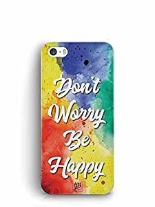 YuBingo Don't Worry. Be Happy Designer Mobile Case Back Cover for Apple iPhone SE