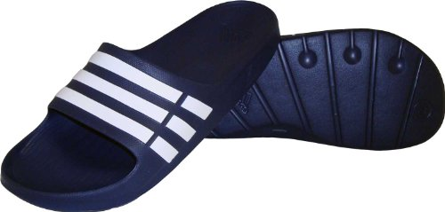Adidas Duramo Slide Sandal,New Navy/White/New Navy,14 M Us Women'S/12 M Us Men'S back-959140