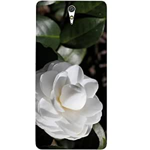 Casotec White Rose Design Hard Back Case Cover for Sony Xperia C5 Ultra Dual
