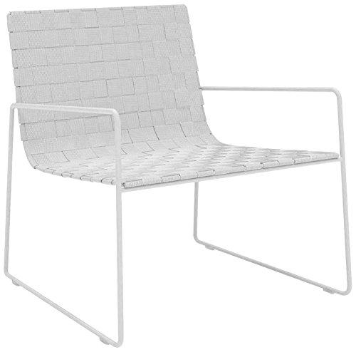 Andreu World silla tumbona apilable con asiento/respaldo sanglé acero trineo/plástico 68x 72x 74cm