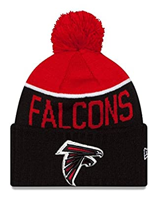 New Era Knit Atlanta Falcons Red On Field Sideline Sport Knit Winter Stocking Beanie Pom Hat Cap 2015