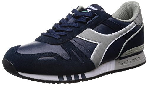 Diadora Titan Leather L/S, Scarpe Low-Top Uomo, Blu (Blu Profondo), 43 EU