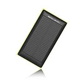 Solar Charger External Battery, ZeroLemon SolarJuice 10000mAh Fast Portable Charger External Battery Power Bank with Solar Charging Technology for iPhone, iPad, Samsung and More - Rain-resistant and Dirt/Shockproof [36 months ZeroLemon Warranty Guarantee