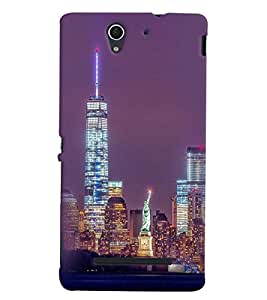 Printvisa Newyork Night View Back Case Cover for Sony Xperia C3 Dual D2502::Sony Xperia C3 D2533