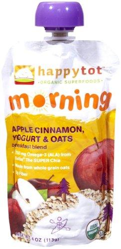 Happy Family happy tot Purees - Apple Cinnamon Yogurt & Oats - 4.22 oz - 8 pk - 1
