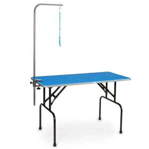 Master equipment pet folding grooming table blue good