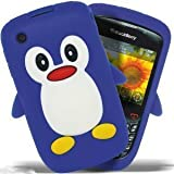 SKT - Blackberry Curve 8520 / Curve 3G 9300 soft silicone 3D Penguin case - Blue