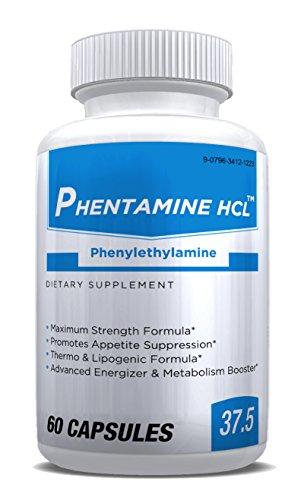 PHENTAMINE HCL 37.5 (Pharmaceutical Grade OTC Weight Loss Diet Pill) -60ct Bottle-