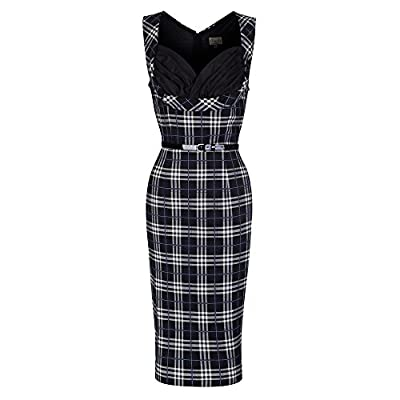 Lindy Bop Vanessa' 1950's Inspired Check Wiggle Dress