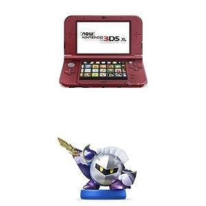 Nintendo 3DS XL Red + Meta Knight Amiibo
