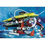 Unique Playmobil Deep Sea Submarine with Underwater Motor (4909) - Cleva Edition H8' Bundle