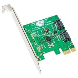 SYBA IO Card SY-PEX40039 High Speed SATA III 6Gbps Ports PCI Express Serial ATA Retail
