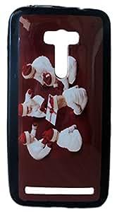 Asus Zenfone Selfie ZD551KL Printed Back Case Cover Baby Santa Brown