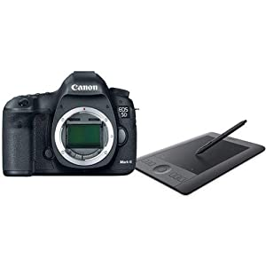 Canon EOS-5D Mark III Digital SLR Camera Body, 22.3 Megapixel - USA Warranty - Bundle with Wacom PTH451 Intuos Pro Pen and Touch Tablet, Small