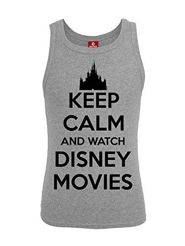 Walt Disney Keep Calm And Watch Disney Movies Top donna grigio sport S