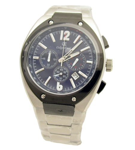 Oskar Emil Lugano s/s Blue Chronograph Men's Watch