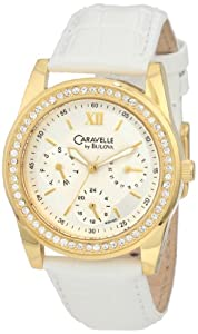 Caravelle by Bulova Women's 44N100 Multifunction silver/white dial Watch