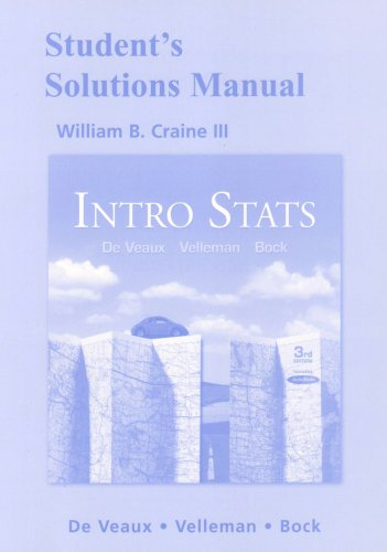 Student Solutions Manual for Intro Stats