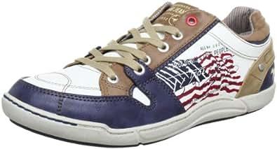 Mustang 4062301, Chaussures à lacets homme - Bleu (805 Blau/Weiss), 40 EU