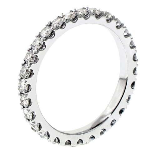 1.35 CT TW Pave Set Diamond Eternity Wedding