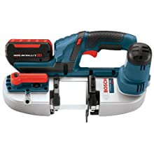 Bosch BSH180-01 18-Volt Lithium-Ion Compact Band Saw Kit with 2 Batteries, Charger and Case