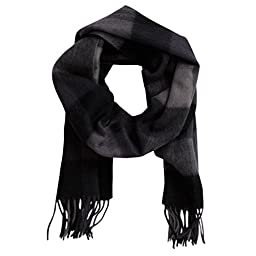Imperial Men\'s Cashmere Scarf One-Size Black and Grey