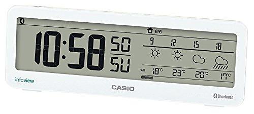 カシオ モバイルリンク機能搭載デジタル電波時計 お天気お知らせクロック 音声案内機能付き DWS-200J-7JF