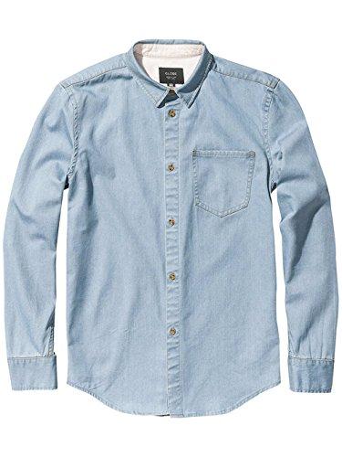 Camicia A Maniche Lunghe Globe Devon Faded Indigo (S , Blu)