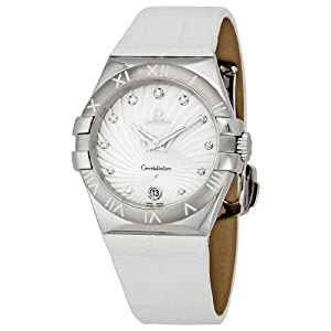 Omega Women's 123.13.35.60.52.001 Constellation Quartz Diamond Bezel Watch