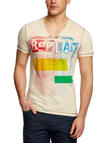 Replay M6116S Printed Men's T-Shirt White X-Large