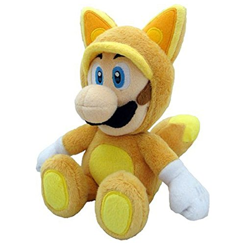 Little Buddy Official Super Mario Plush Kitsune Fox Luigi, 9-Inch