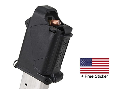 MagLula UpLula Universal Pistol Magazine Speed Loader Loads All Handgun Mags 9mm, 10mm, 357SIG, 40S&W, 45ACP + FREE US Flag Sticker (Ruger 10 22 Auto compare prices)