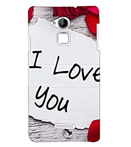 Printvisa Premium Back Cover I Love You With Rose Petals Design For Coolpad Note 3