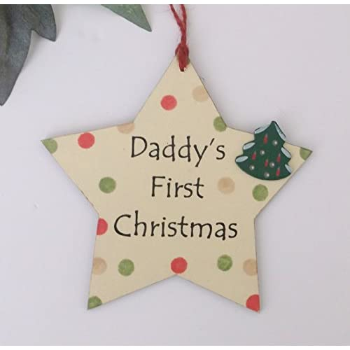 Daddy's First Christmas Wooden Keepsake Gift Plaque