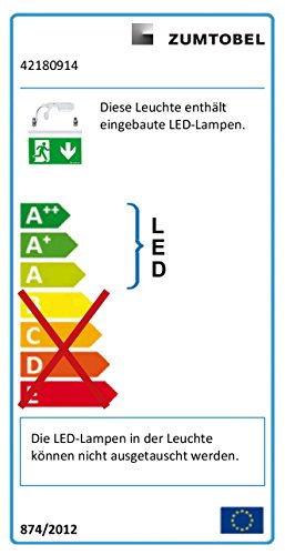 Lumière #zumtobel rettungszeichenleuchte pURESIGN150 42180914 cOMSIGN 9008709485723 rSI nSI éclairage de secours
