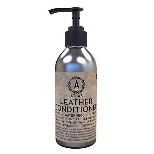 Atlas Leather Conditioner & Restorer - The Best pH Balanced Leather Conditioner for Handbags, Purses, Shoes, Jackets, Furniture, Car Seats, Sofas & More - 100% Satisfaction Guarantee! (Organic Leather Conditioner compare prices)