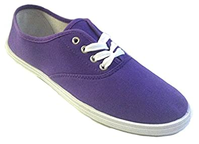 Shoes 18 Womens Canvas Shoes Lace up Sneakers 18 Colors Available (5, Parachute Purple 324)
