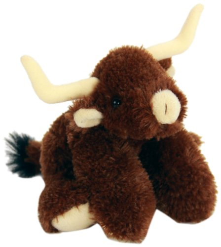 "Purr-Fection Tyson Junior Snuggle Ups Longhorn Cow 8"" Plush"