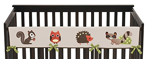 Forest-Friends-Long-Front-Rail-Guard-Baby-Boy-Teething-Cover-Protector-Crib-Wrap