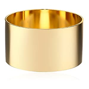 a.v. max Gold Plain Bangle Bracelet
