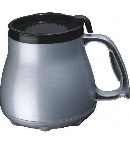 Low Rider No Tip Desk Mug - Silver