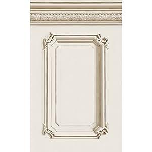 papier peint soubassement haussmannien beige rouleau 10m cuisine maison. Black Bedroom Furniture Sets. Home Design Ideas