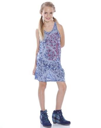 Custo Vestido Daini Volaille  azul oscuro 12 años