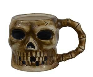 Spooky Skull Skeleton Ceramic Coffee Mug - Goth Evil